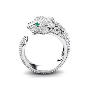 Jewelry - New Silver Pave Panther Ring